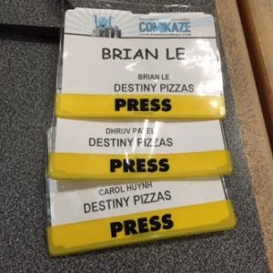 Press passes make us official