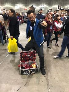 Some white dude dressed as another white dude?? JK awesome Tony Stark cosplay, cosplayer unknown. Contact for credit.